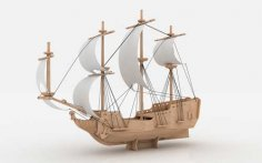 Pirate Ship L 6mm dxf File