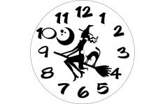 Horloge Sorciere dxf File