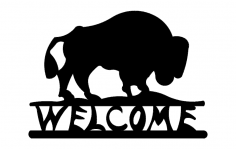 Buffalo Welcome dxf File