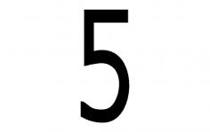 Number 5 dxf File