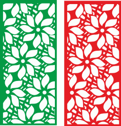 Flower partition screen CDR File