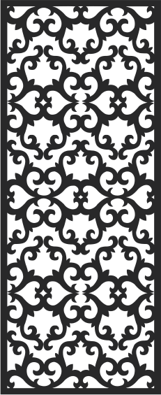 Vectorized fretwork pattern CDR File