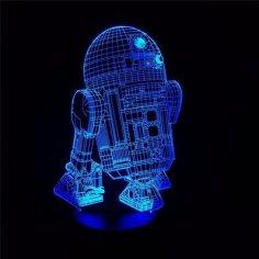 Star Wars R2-D2 Robot 3D LED Night Light CDR File