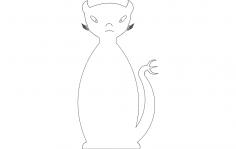 Cat devil dxf File