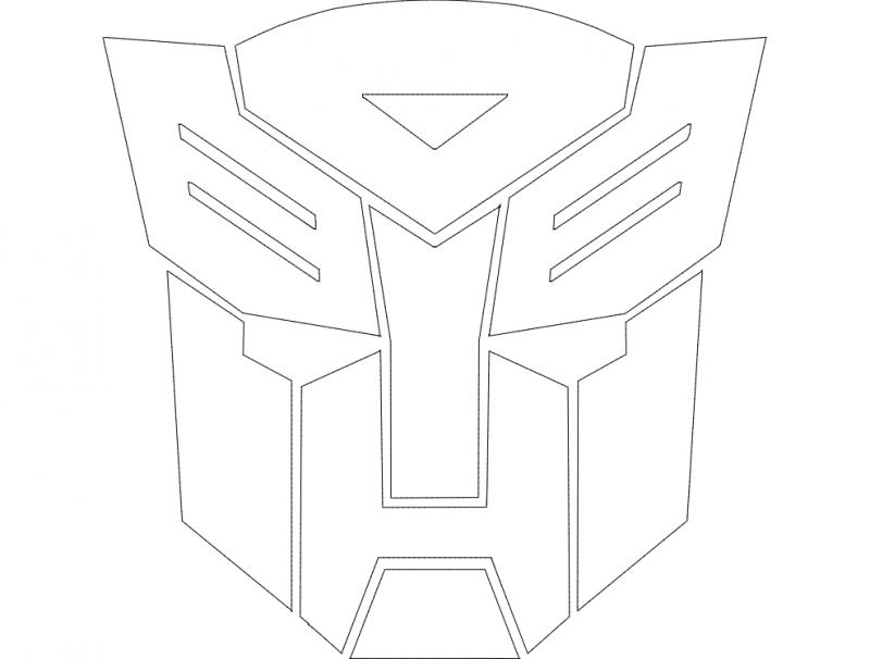 Autobot Logo dxf File