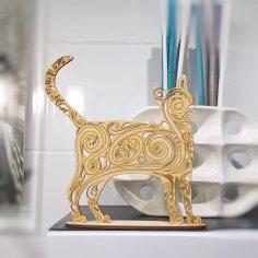 Cat Decoration 3D Puzzle CDR File