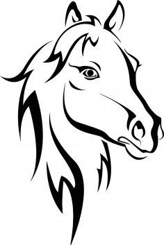 Horse Stencil CDR File