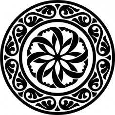 Design Round Stencil motif CDR File