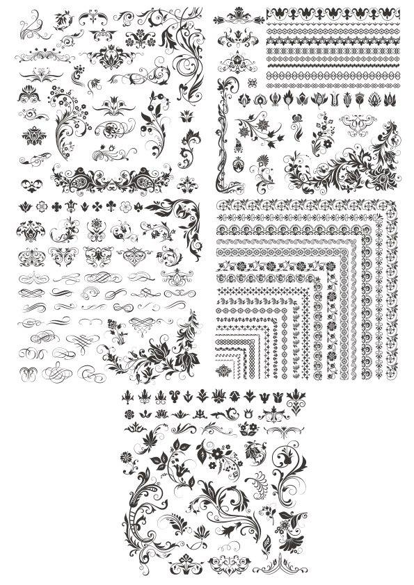Flower Corner Designs CDR File