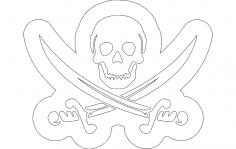 Skull Swords dxf file