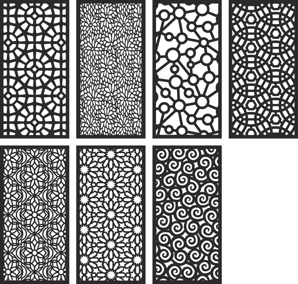 Geometric Motifs Repeating Pattern Vectors Free Vector Cdr