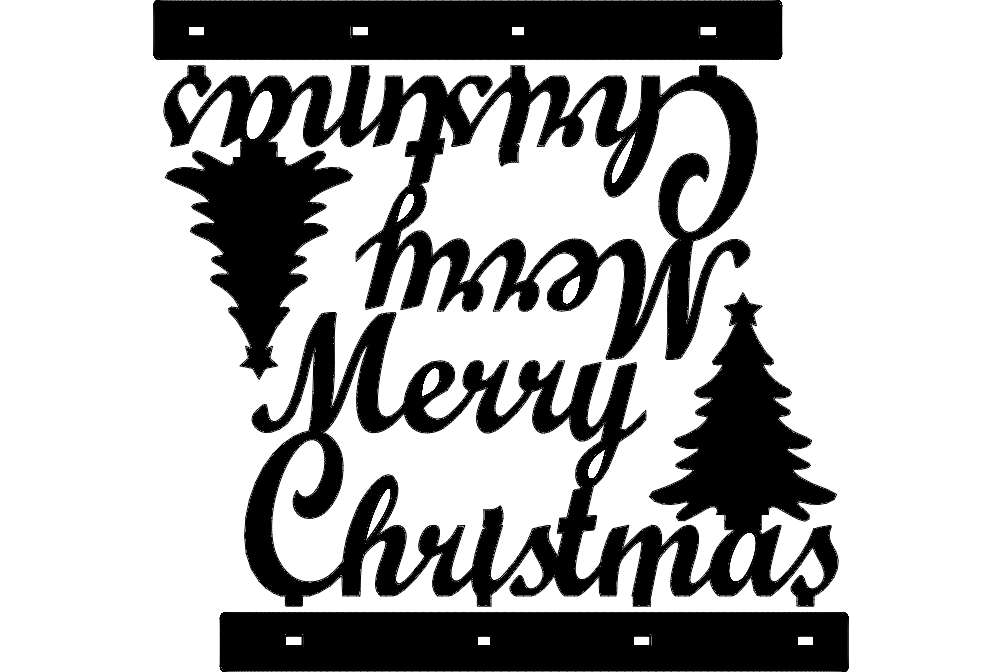 Stand Merry Christmas Decoration Dxf File Free Download 3axis Co