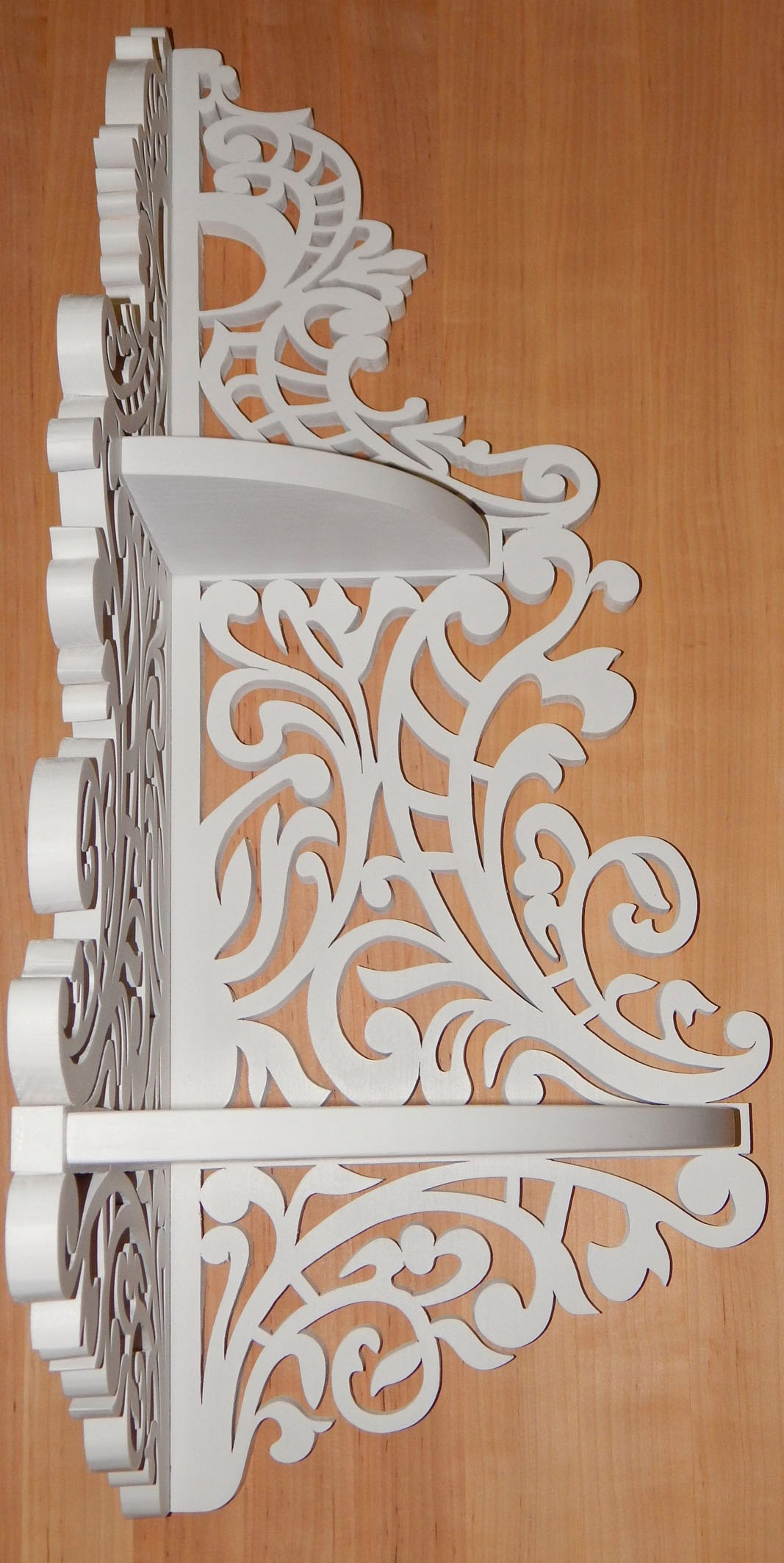 Corner Shelf Scroll Saw Pattern Cnc Plans Pdf File Free