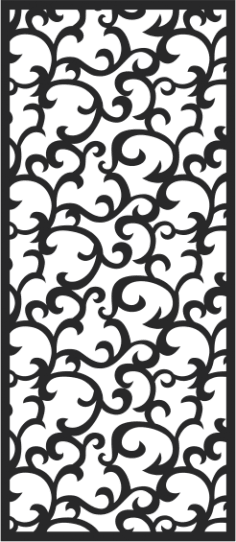 Seamless swirl floral pattern CDR File