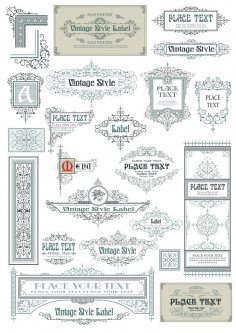 Vintage Vector Label Page Dividers And Borders CDR File
