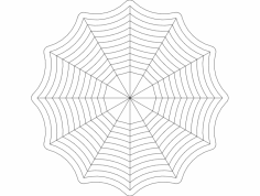 Spider web 8×8 dxf File