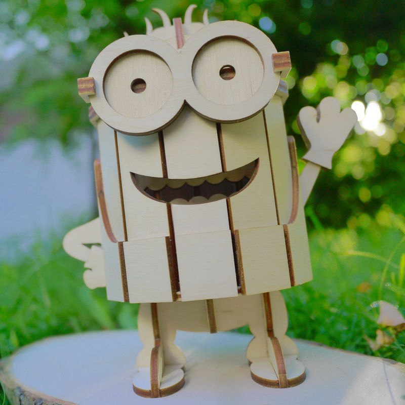 minions laser cut 3d puzzle dxf file free download   3axis co