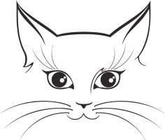 Cat Sticker Vector CDR File