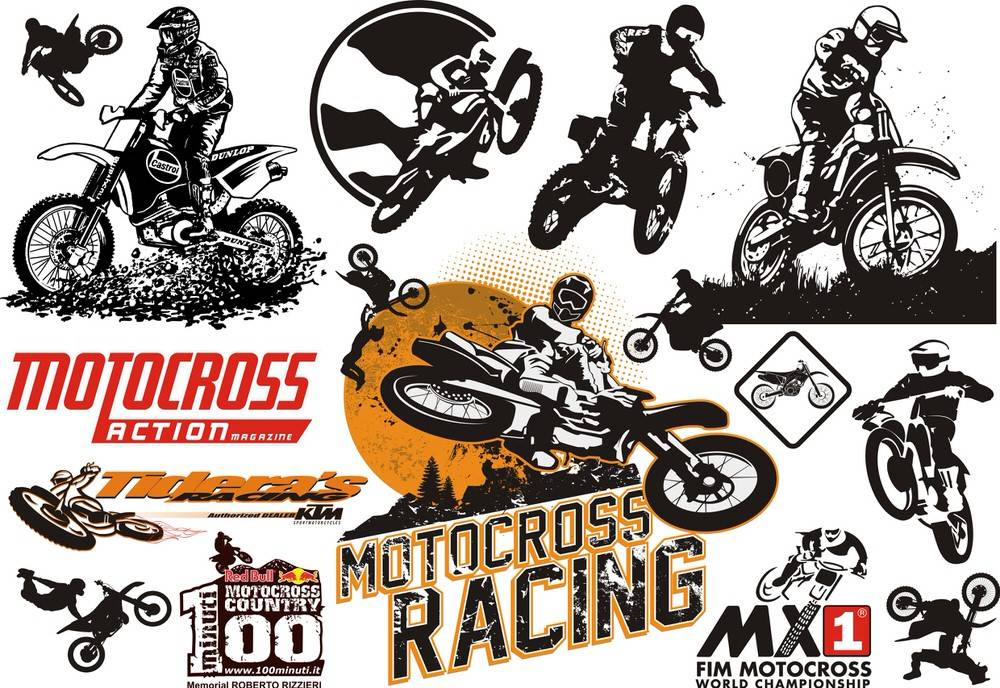 Motocross Vector Set CDR File