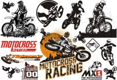 Motocross Vector Set CDR File