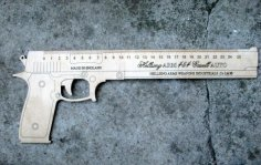 Gun-Shaped Ruler CDR File