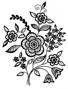 Black and white flower clipart vector jpg image free download 3axis stunning black and white flower vector art jpg image mightylinksfo