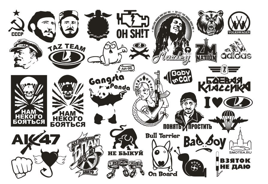 Vector Clipart Car Stickers Free Vector Cdr Download 3axis Co