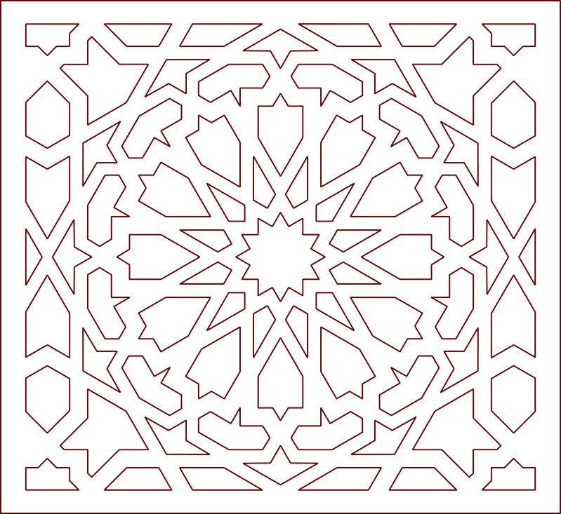 Arabic art design pattern DXF File Free Download - 3axis co