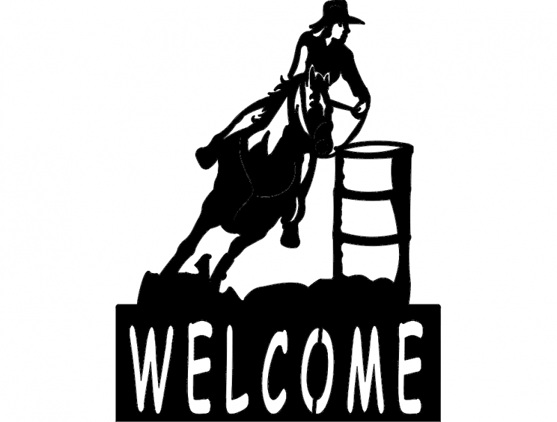 barrel racer welcome sign dxf file free download 3axis co rh 3axis co
