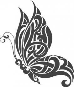 Tattoo Butterfly Design dxf File