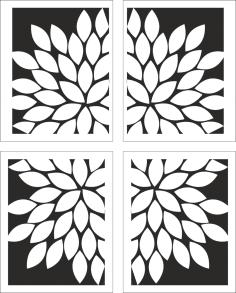 White Floral Artwork CDR File