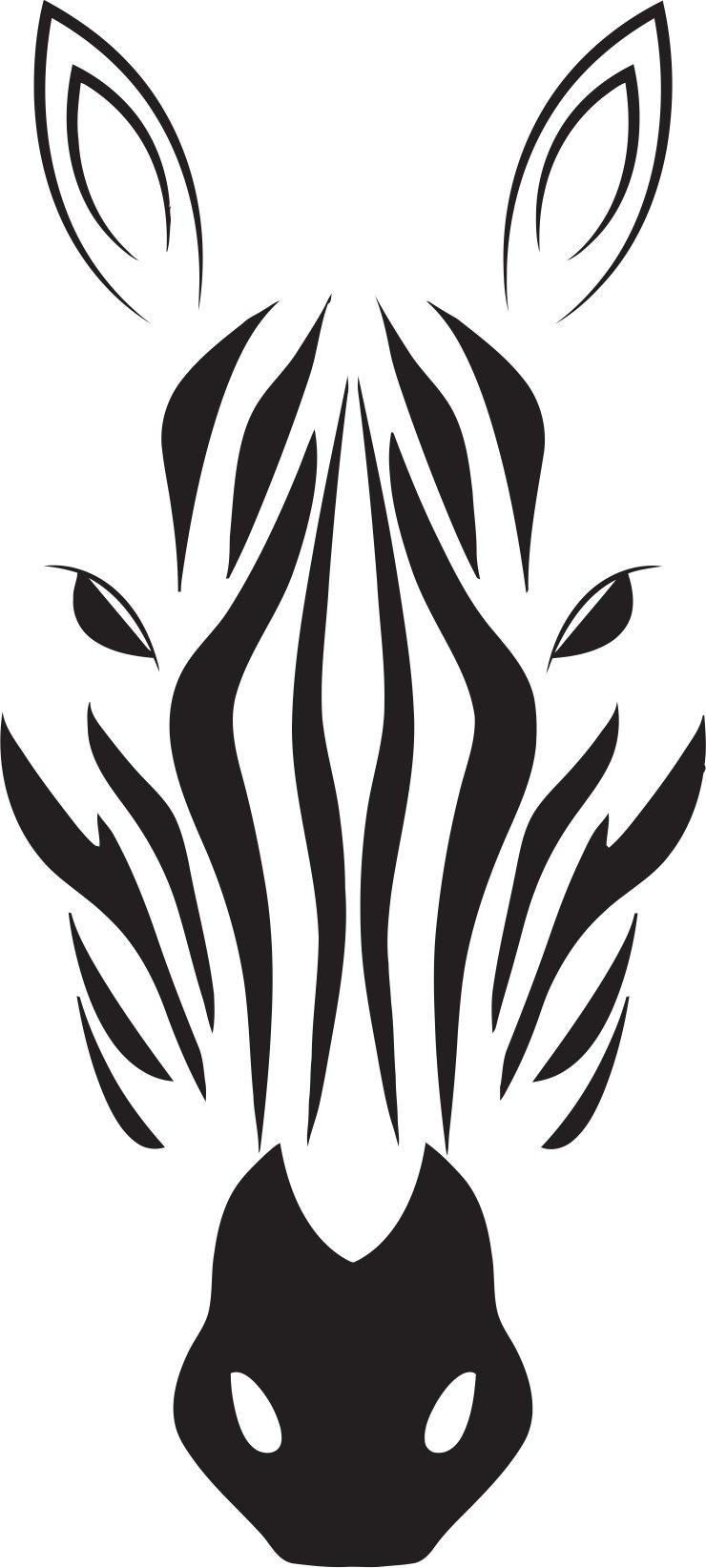 zebra head vector free vector cdr download