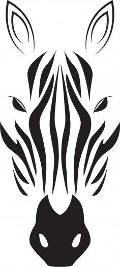 Zebra Head Vector CDR File