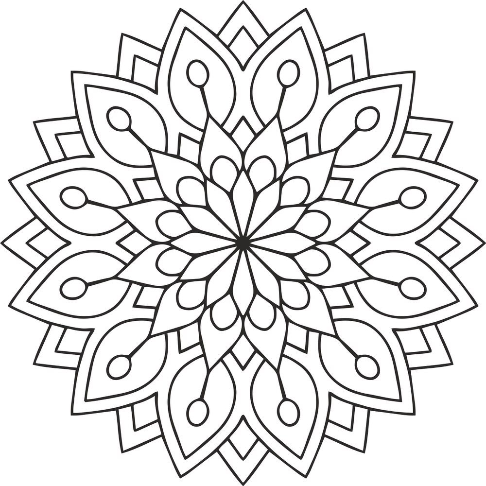 Mandala Des Flower Free Vector Cdr Download 3axis Co