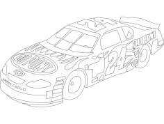 Dupont Chevy 24 Lineart dxf File