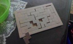 45 parça ahşap Puzzle dxf File