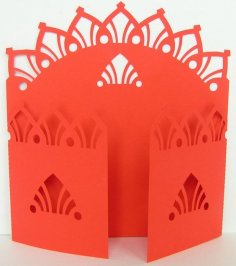 Gate Fold Card 11 dxf File