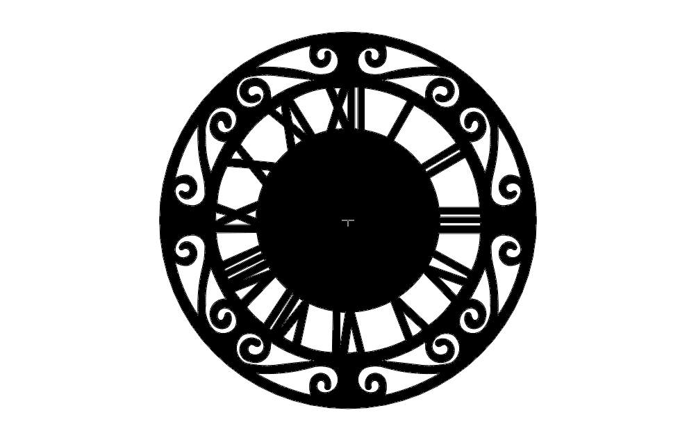 Roman Numerall Clock dxf File Free Download - 3axis co