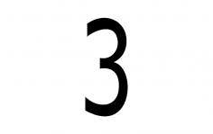 Number 3 dxf File