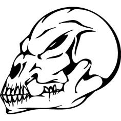 Skull 019 dxf File