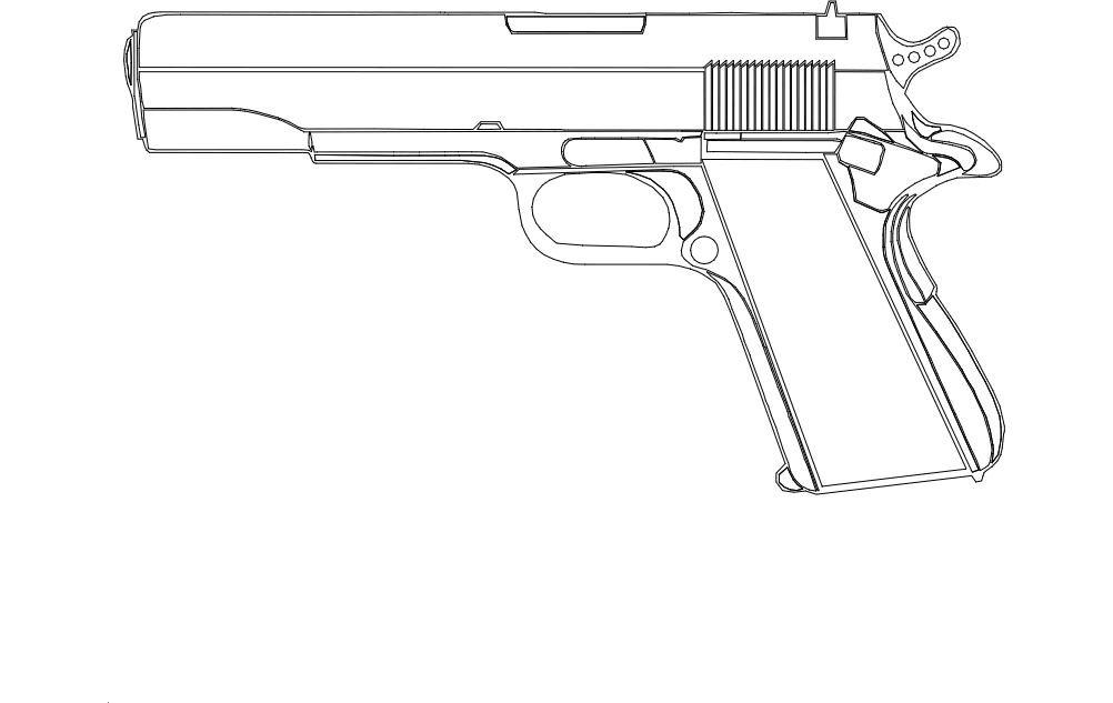 M1911 Pistol dxf File Free Download - 3axis co