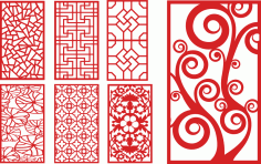 Laser Cut Decorative Panels Decorative Screens CDR File