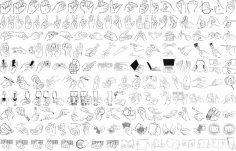 Hand Gestures Vector Art CDR File
