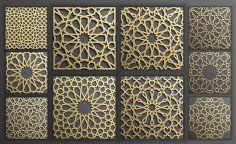 Islamic Scrollwork Pattern DXF File