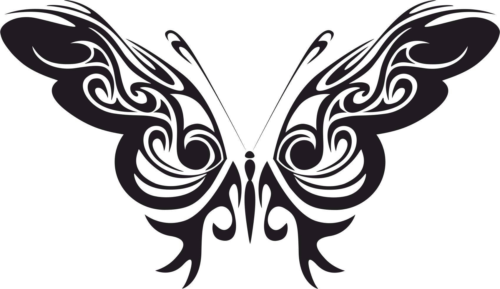 Tribal Butterfly Vector Art Free Vector Cdr Download