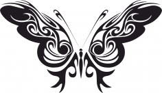 Tribal Butterfly Vector Art CDR File