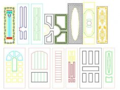 Interior Door Panel Designs CDR File
