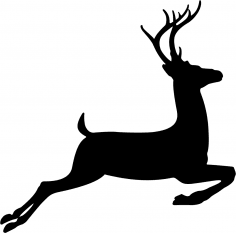 Running Deer Stencil Vector CDR File