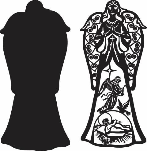 Angel Scene Dxf File Free Download 3axis Co