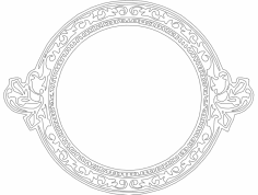Cool Circle Frame dxf File